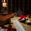 Still life with vintage writing instruments — Stock Photo
