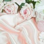 Horizontal pink composition — Stock Photo