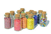 Multicolored beads — Stock Photo