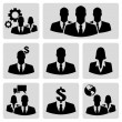 Business people icons — Stock Vector
