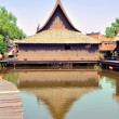 Ancient Thai style wooden houses — Stock Photo