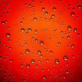 Red water drops - background — Stock Photo