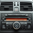 Stock Photo: Car radio panel