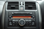 Car radio panel — Stock Photo
