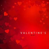 Red heart background for Valentine's day — Stock Photo