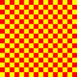 Colorful yellow & red checkered background — Stock Photo