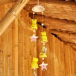 Decorative clay wind chimes — Stock Photo