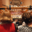 Audiences in concert hall  — Stock Photo