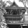 Ancient wooden Thai style house — Stock Photo