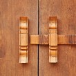 Traditional Thai style wooden latch — Stock Photo