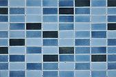 Old blue tile pattern — Stock Photo
