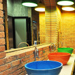 Colorful public toilet basins — Stock Photo #36021759