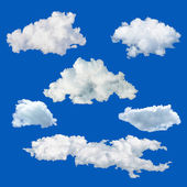 Set of white clouds — Stock Photo