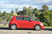 Small red car — Stock Photo