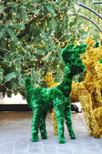 Deer christmas ornaments — 图库照片