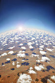 Aerial view of the earth — Stock Photo