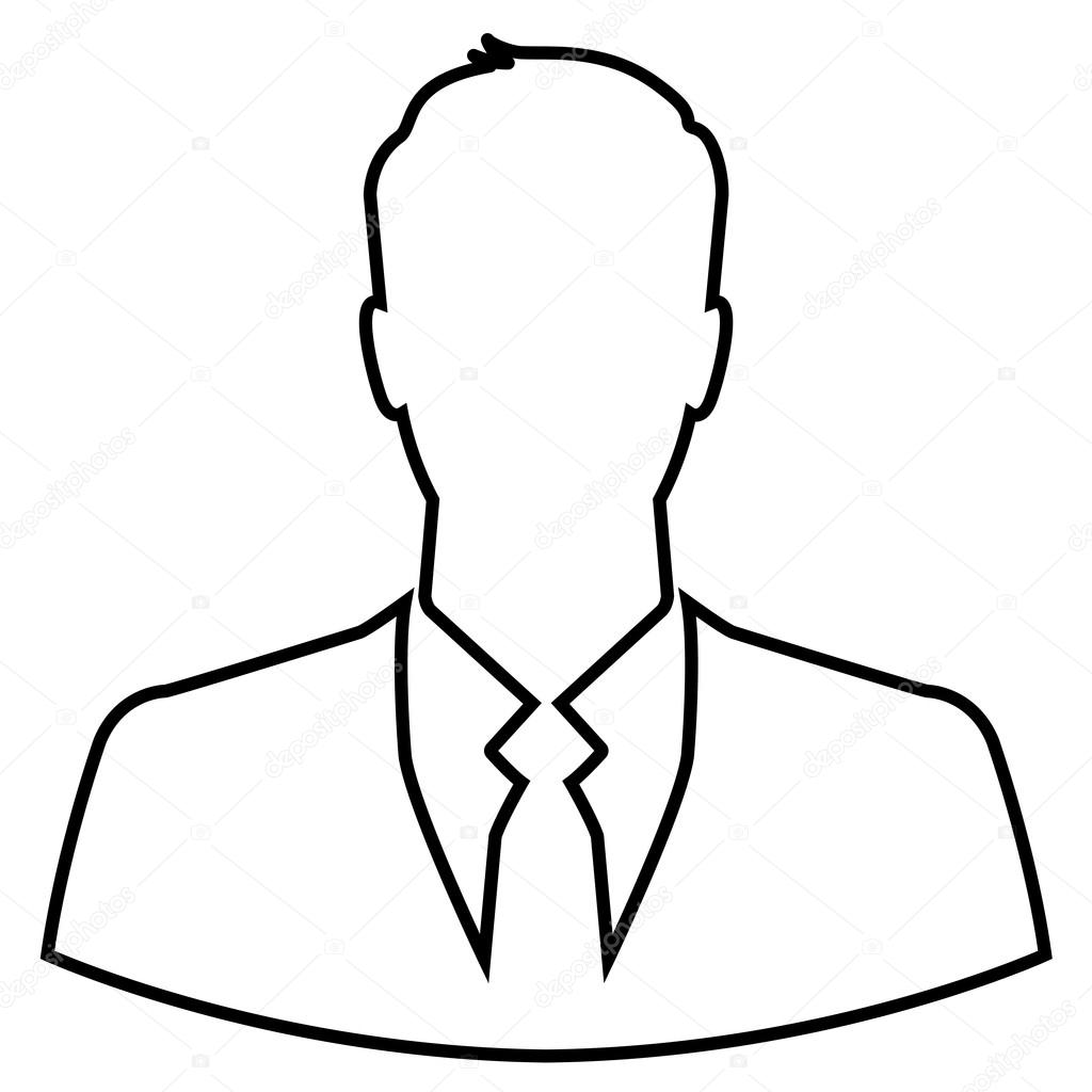 Person Outline Sketch Businessman outline drawing