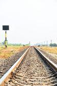 Railroad in rural scenery — Stock Photo