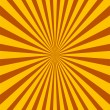 Colorful yellow and brown ray sunburst style abstract background — Stock Vector #43381421