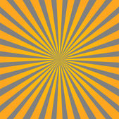 Colorful yellow and gray ray sunburst style abstract background — Stock Vector