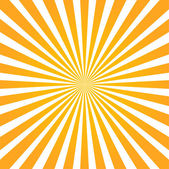 Colorful orange ray sunburst style abstract background — Stock Vector