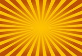 Colorful yellow and brown ray sunburst style abstract background — Stock Vector