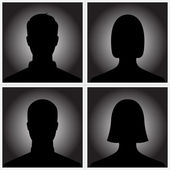 Man and woman silhouette avatar profile pictures