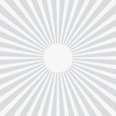 White and gray ray sunburst style abstract background — Stock Vector