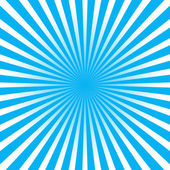 Colorful blue ray sunburst style abstract background — Stock Vector