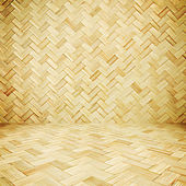 Wicker texture room as background — Stock Photo