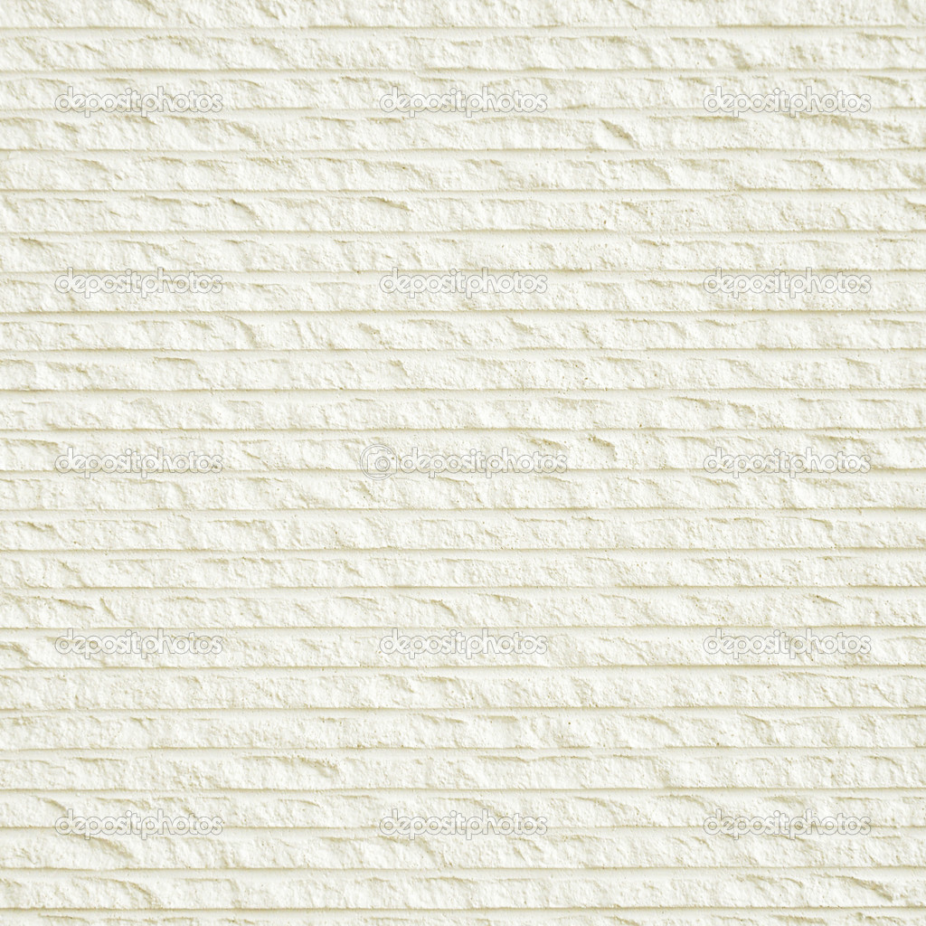White Grooved Decorative Stone Wall Texture Stock Photo