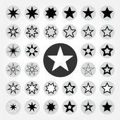 Star vector icon set — Stock Vector