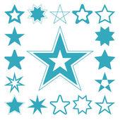 голубая звезда векторный икона set — Cтоковый вектор