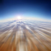 Fast moving in the sky - motion blur abstract background — Stock Photo