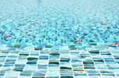Rippled water texture in swimming pool — Stock Photo