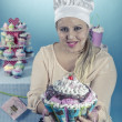Girl with cupcakes — Foto de Stock