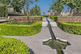 Gardens and fountains of La Alcazaba — Stock Photo