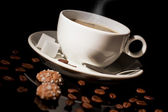 Cup of coffee with sugar and cookies — Foto Stock