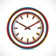 Abstract color clock - Stock Vector
