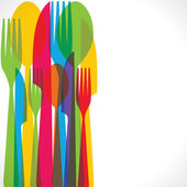 Colorful forks background — Stock Vector