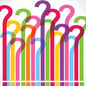 Colorful question mark background — Stock Vector