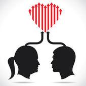 Heart is design with arrow — Stock Vector
