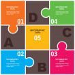 Creative puzzle infographic background - Imagen vectorial