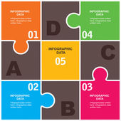 Creative puzzle infographic background — Stock Vector