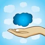 Cloud computing concept — Stock Vector #24038909