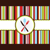 Colorful strip menu card background — Stock Vector