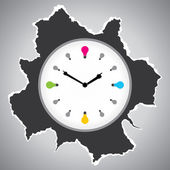 Reloj abstracto — Vector de stock