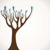 Creative arrow tree — Stock Vector