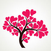 Lover tree with small white leaf — Stock Vector