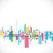 Ville abstraite coloré — Vecteur